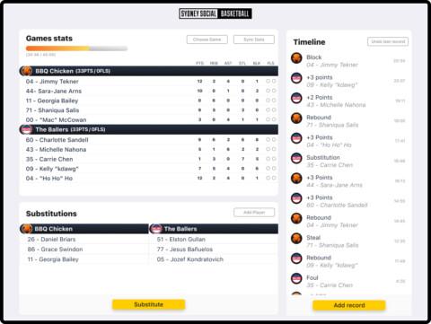 Scoring & Referee App